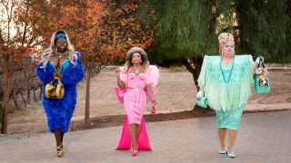 From left: Bob the Drag Queen, Shangela, and Eureka on season two of HBO's 'We're Here'