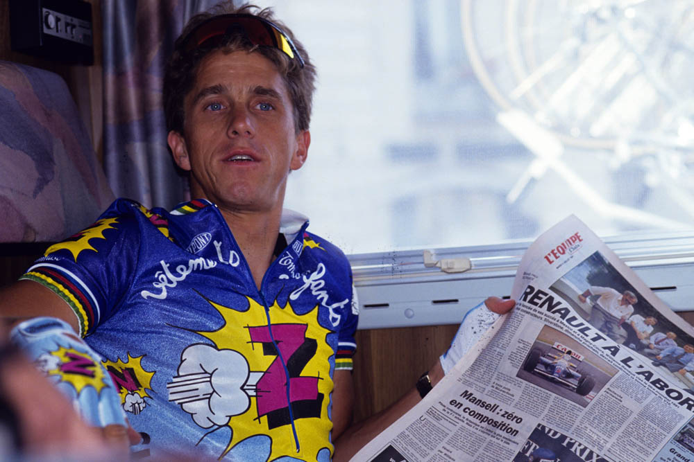 Photo: Greg Lemond made s aplash in his debut year, and went on to win the Tour de France on three occasions.