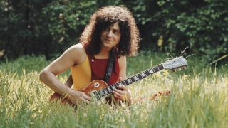 Marc Bolan with Gibson Les Paul in 1972.