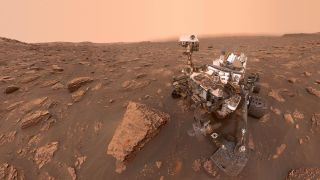 NASA's Curiosity rover took this selfie while inside Mars' Gale crater on June 15, 2018, which was the 2,082nd Martian day, or sol, of the rover's mission.