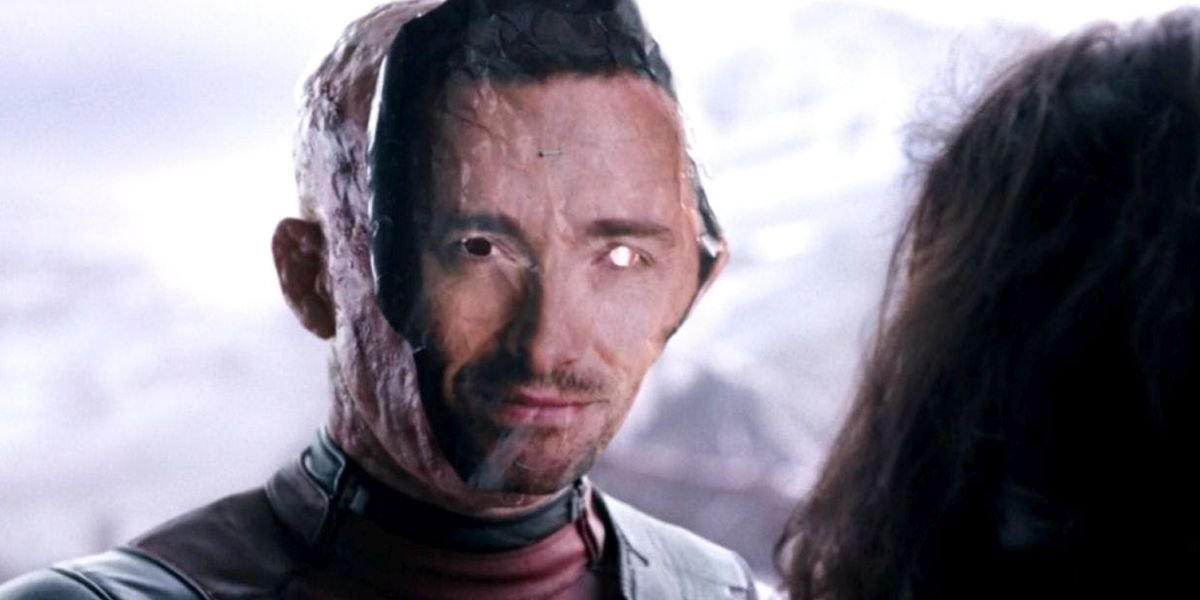 Deadpool in Hugh Jackman mask