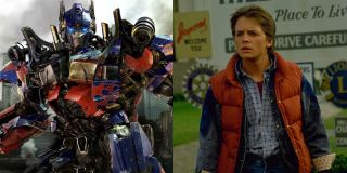 Optimus Prime and Marty McFly from Transformers and Back to the Future
