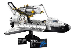 The new Lego NASA Space Shuttle Discovery set reproduces the winged orbiter and Hubble Space Telescope in detail.