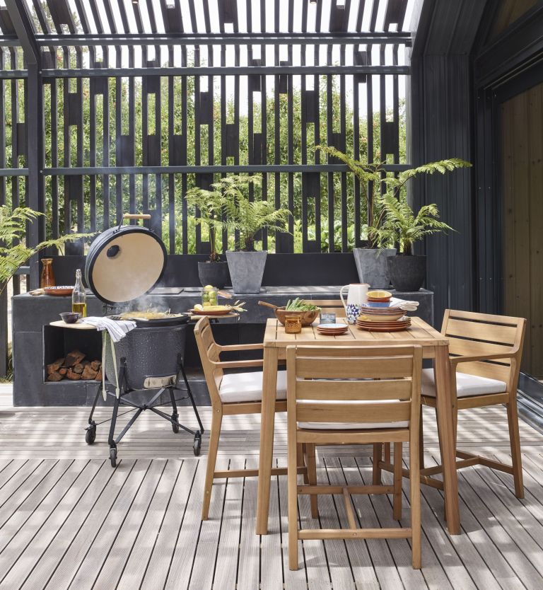 outdoor dining set from john lewis with best barbecue