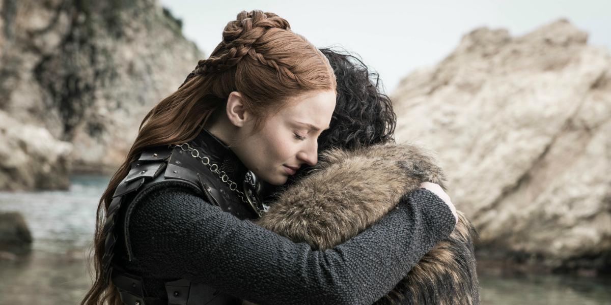 Game of Thrones Sophie Turner Sansa Stark Kit Harington Jon Snow HBO