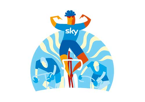 Team Sky illustration Cycling Weekly