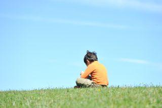 boy sitting alone, child, autism