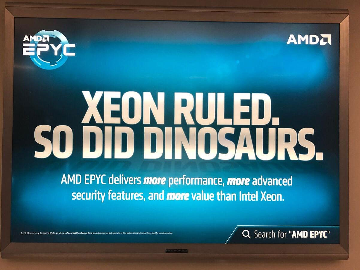 AMD disses Intel Xeon in ads scattered around San Jose