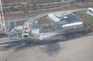 Antares Rocket Explosion Aftermath