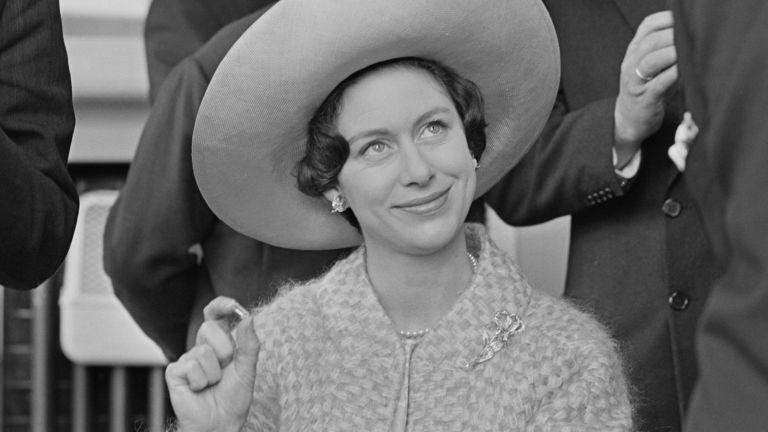 Princess Margaret in hat smiling