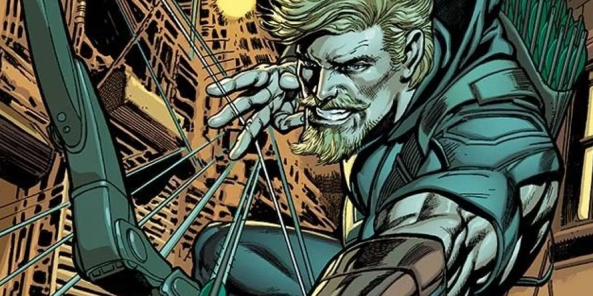 Oliver Queen strikes send a Green Arrow flying