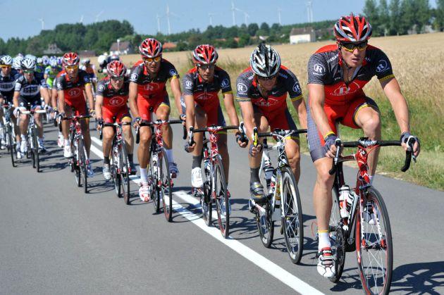 RadioShack head bunch, Tour de France 2010 stage 4
