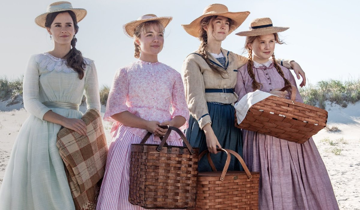 Little Women The March Sisters ready for a picnic on the beach