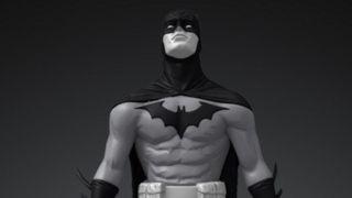 Image of Batman Black and White digital NFT statue based on Jae Lee art