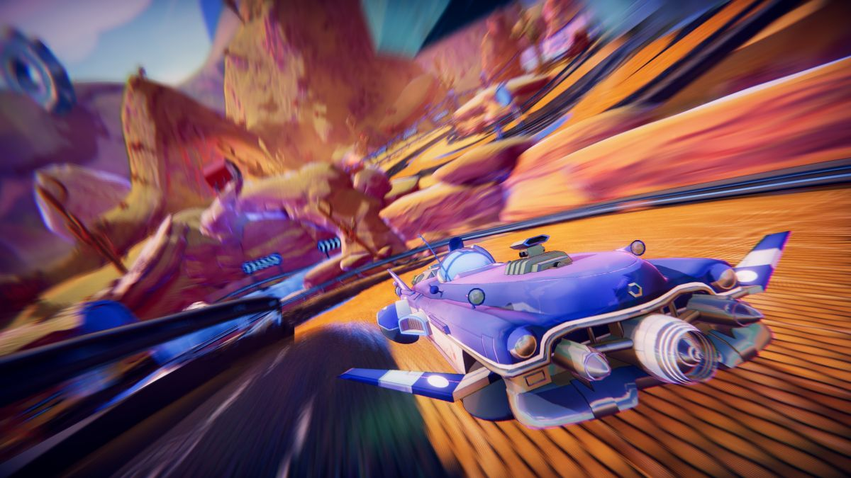 Trailblazers is a co-op racer about painting ever-changing tracks