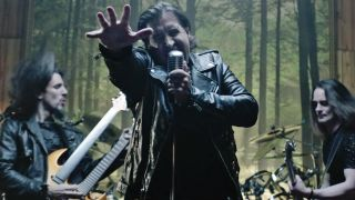 A still from Art Of Anarchy's video for The Madness