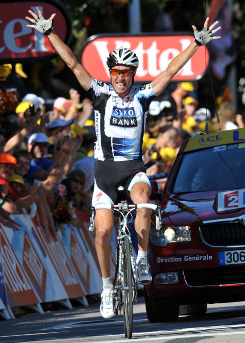 Nicki Sorensen wins, Tour de France 2009, stage 12