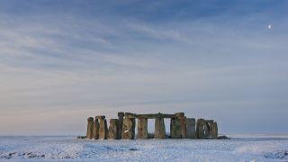Snowy day at Stonehenge