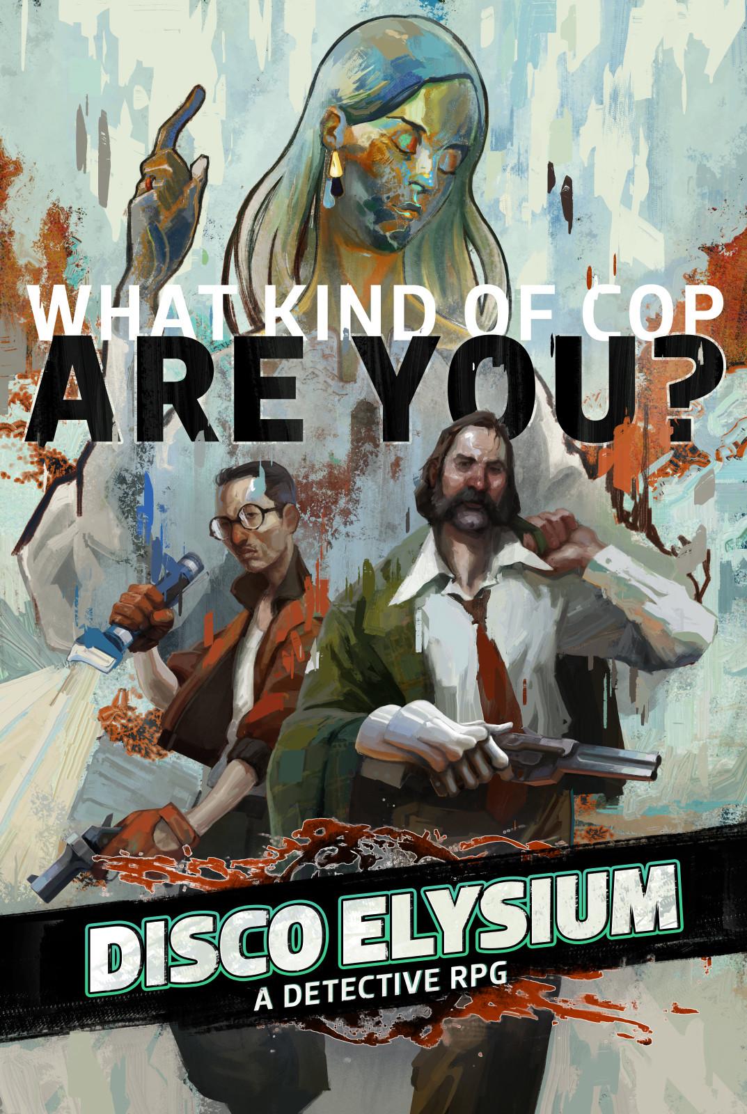 Disco Elysium's cover art