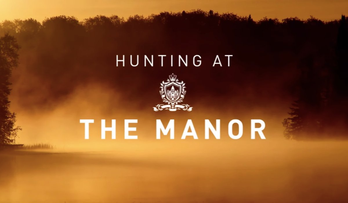 The Hunt teaser title card for The Manor commercial