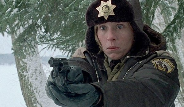 Fargo Frances McDormand armed and bewildered
