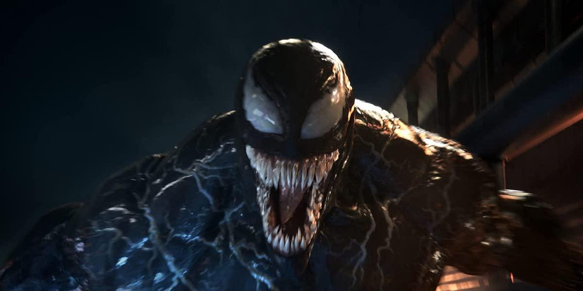Venom symbiote in 2018 movie