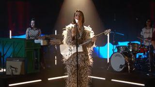 St. Vincent performing live on Jimmy Kimmel Live