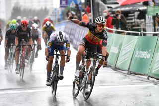 Brussels Cycling Classic 2020 - 100th Edition - Brussels - Brussels 203,7 km - 30/08/2020 - Marcel Meisen (GER - Alpecin - Fenix) - Davide Ballerini (ITA - Deceuninck - Quick Step) - Nacer Bouhanni (FRA - Team Arkea Samsic) - photo Davy Rietbergen/CV/BettiniPhoto©2020
