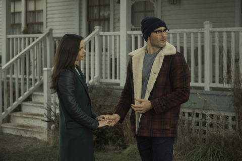 Clark Kent (Tyler Hoechlin) and Lois Lane (Bitsie Tulloch) in 'Superman and Lois'