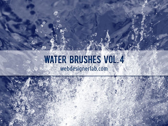 Photoshop brushes: Water