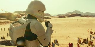 A stormtrooper with a jetpack in Star Wars: The Rise of Skywalker