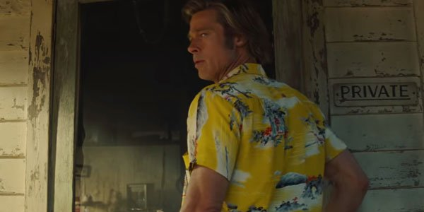 Brad Pitt at Spahn Ranch in Once Upon A Time In Hollywood