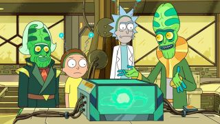 """A miniuniverse that powers a car battery? Only in the world of """"Rick and Morty."""""""