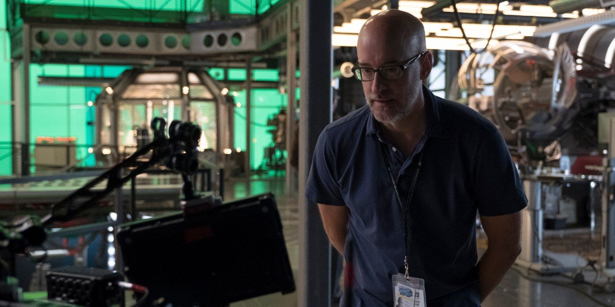 Director Peyton Reed on the set of Ant-Man and the Wasp