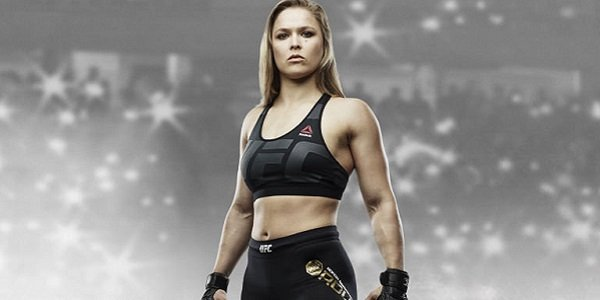 Ronda Rousey, from the cover of UFC 2.