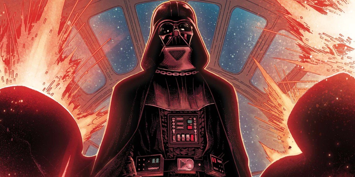 Darth Vader lsurrounded by dark energy Star Wars comics