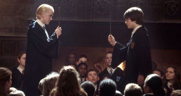 draco and harry potter duel