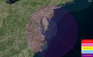 Visibility Map for Cygnus/Antares Launch on Sept. 18, 2013