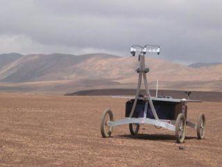 Zoe Rover in the Atacama Desert