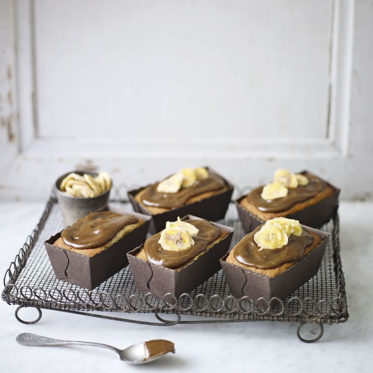 Toffee and banana mini loaf cakes-Baking-woman and home
