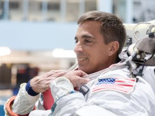 NASA astronaut Chris Cassidy trained for his upcoming mission to the space station.