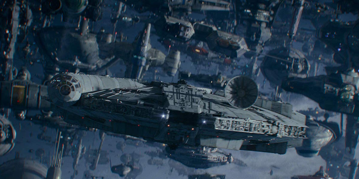 The Millennium Falcon in Star War: The Rise of Skywalker