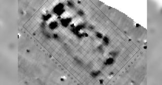 These magnetic anomalies in the soil at a site called Maidanetske clued the researchers into the existence of the megastructure that they eventually decided to excavate.