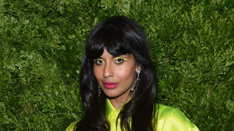 NEW YORK, NEW YORK - NOVEMBER 04: Jameela Jamil attends the CFDA / Vogue Fashion Fund 2019 Awards at Cipriani South Street on November 04, 2019 in New York City. (Photo by Jamie McCarthy/Getty Images)