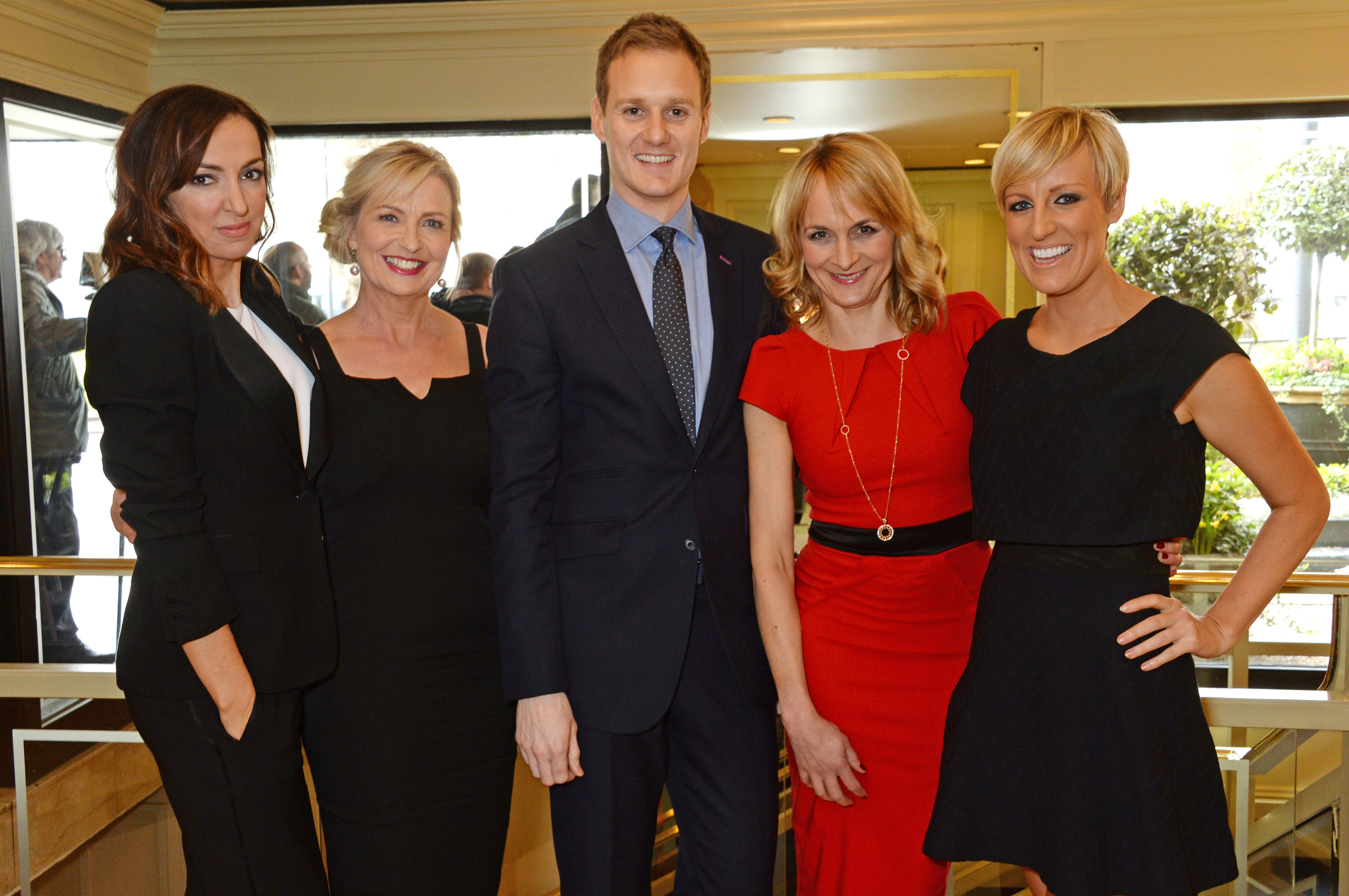 Dan Walker with his BBC colleagues at the 2016 TRIC awards