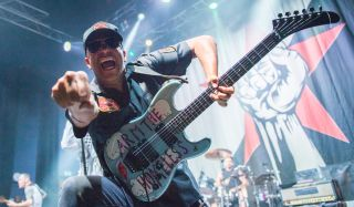 Tom Morello performs with Prophets of Rage at O2 Shepherd's Bush Empire on August 12, 2019 in London