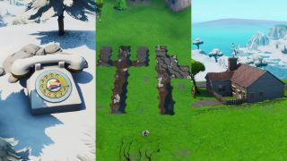 Fortnite rotary phone, fork knife, and hilltop house locations