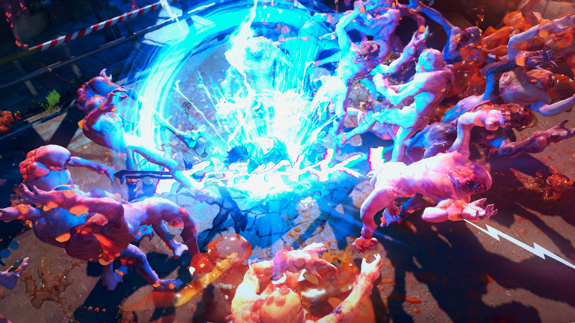 An explosive attack in Sunset Overdrive