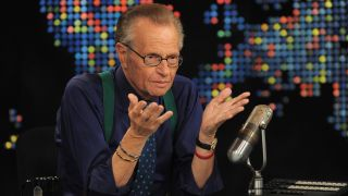 Larry King speaks during Larry King Live: Disaster in the Gulf Telethon held at CNN LA on June 21, 2010 in Los Angeles, California.