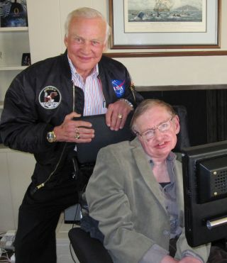 Former astronaut Buzz Aldrin and astrophysicist Stephen Hawking are teaming up to help advance humanity's future in space.